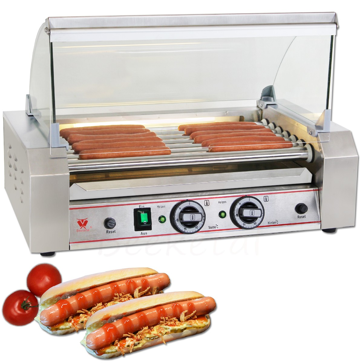 beeketal edelstahl hot dog w rstchen grill hotdog w rstchenw rmer wurstgrill ebay. Black Bedroom Furniture Sets. Home Design Ideas