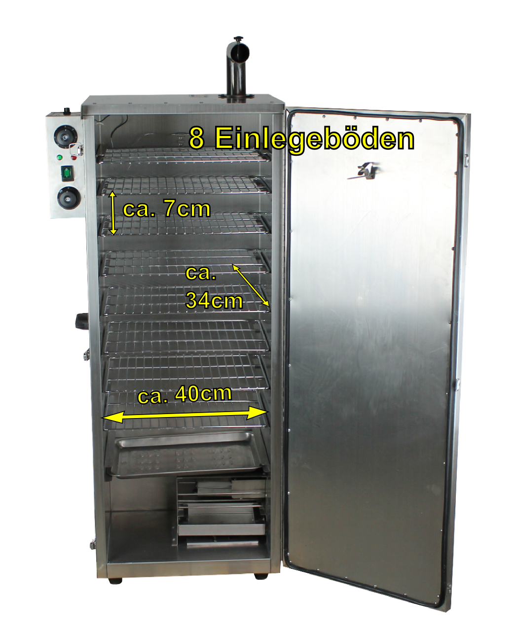 Beeketal elektrischer Räucherofen manuell BDSH-S03L Fischverarbeitung