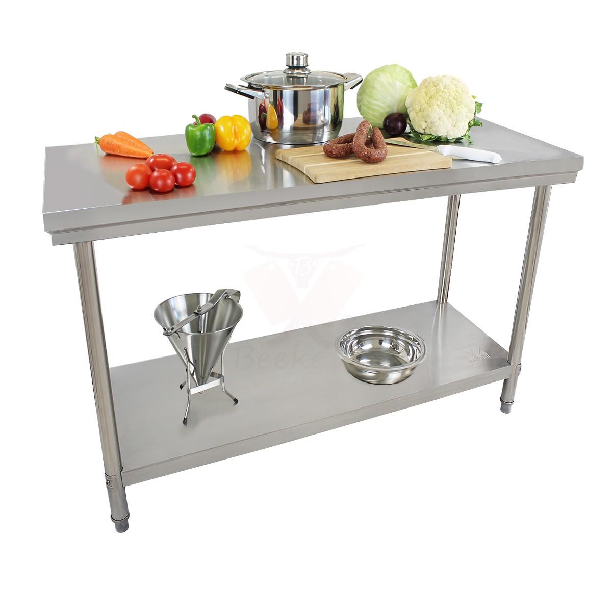 Beeketal Gastro Tisch Zerlegetisch Edelstahltisch Arbeitstisch